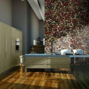 Papier Peint Panoramique Poivre en grains - mosaïque