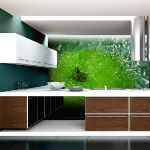 Papier Peint Panoramique Pomme verte