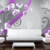 Papier Peint Panoramique Purple orchids - variation