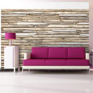Papier Peint Panoramique Puzzle de bois