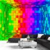 Papier Peint Panoramique Rainbow Cube