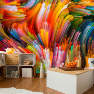 Papier Peint Panoramique Rainbow Waves