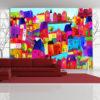 Papier Peint Panoramique Rainbow-hued town