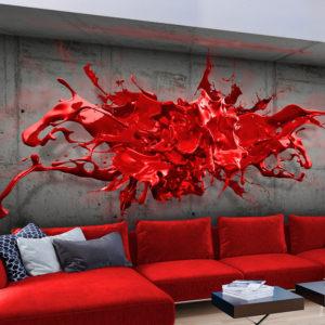 Papier Peint Panoramique Red Ink Blot