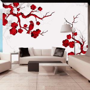 Papier Peint Panoramique Red bush