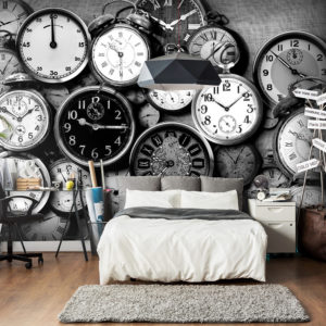 Papier Peint Panoramique Retro Clocks