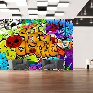 Papier Peint Panoramique Scary graffiti