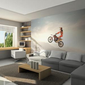 Papier Peint Panoramique Sport motocycliste