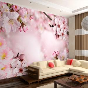 Papier Peint Panoramique Spring Cherry Blossom