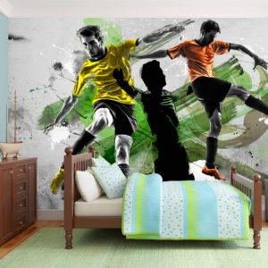 Papier Peint Panoramique Stars du football