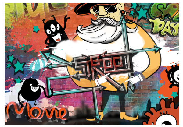Tapisserie murales Street art