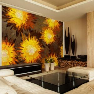 Papier Peint Panoramique Sunflower dance