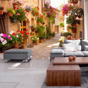 Papier Peint Panoramique The Alley in Spello (Italy)