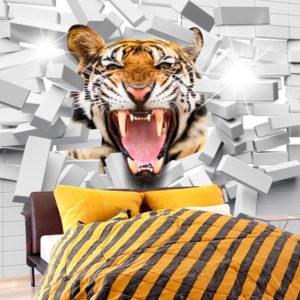 Papier Peint Panoramique Tiger Jump
