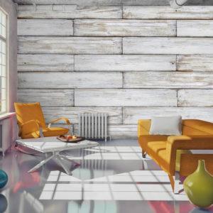Papier Peint Panoramique Tissage de bois