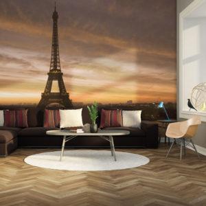 Papier Peint Panoramique Tour Eiffel à l'aube