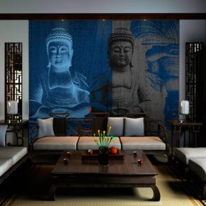 Papier Peint Panoramique Trois corps du Bouddha