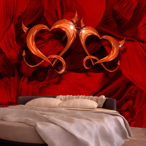 Papier Peint Panoramique Two hearts