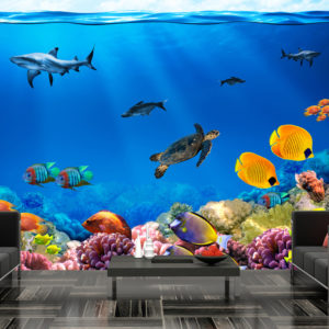 Papier Peint Panoramique Underwater kingdom