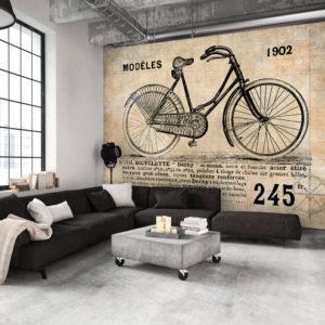 Papier Peint Panoramique Vélo ancien