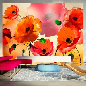Papier Peint Panoramique Velvet poppies