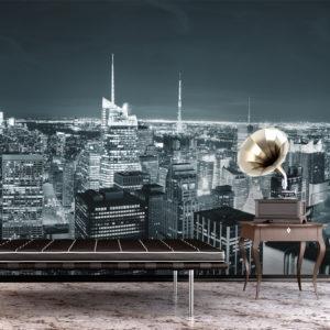 Papier Peint Panoramique Vie nocturne à New York