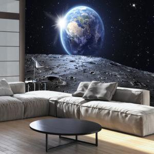 Papier Peint Panoramique View of the Blue Planet