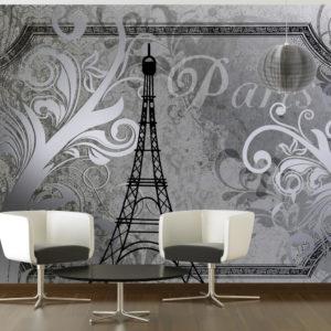 Papier Peint Panoramique Vintage Paris - silver