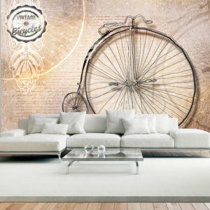Papier Peint Panoramique Vintage bicycles - sepia
