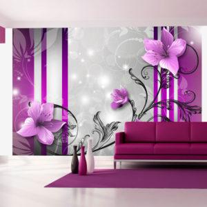 Papier Peint Panoramique Violet buds