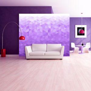 Papier Peint Panoramique Violet pixel