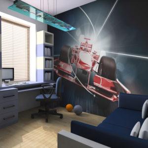 Papier Peint Panoramique Vitesse et dynamique F1 - Formule 1