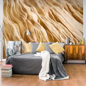 Papier Peint Panoramique Wavy sandstone forms