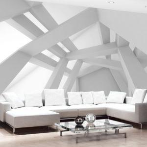 Papier Peint Panoramique White Construction