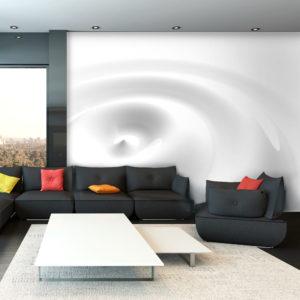 Papier Peint Panoramique White Swirl