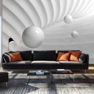 Papier Peint Panoramique White Symmetry