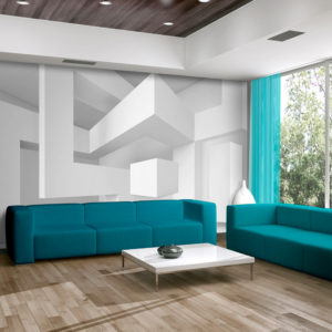 Papier Peint Panoramique White geometry
