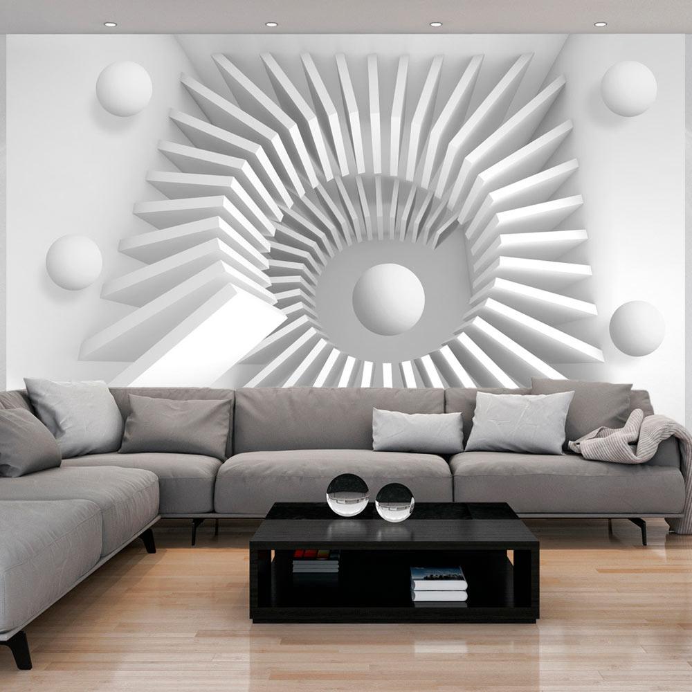 Papier Peint Panoramique White jigsaw