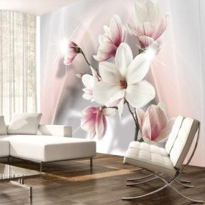 Papier Peint Panoramique White magnolias