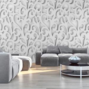 Papier Peint Panoramique White ornament