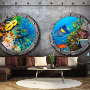 Papier peint adhésif - Window to the underwater world