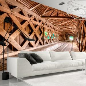 Papier Peint Panoramique Wooden Bridge