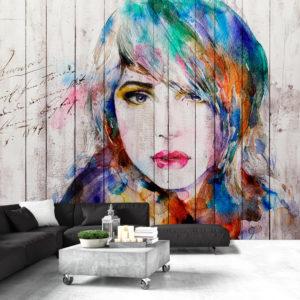 Papier Peint Panoramique Wooden Portrait