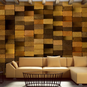 Papier Peint Panoramique Wooden Wall