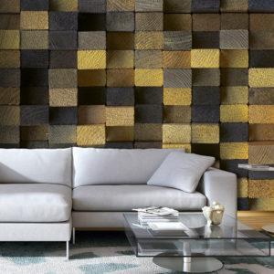 Papier Peint Panoramique Wooden cubes