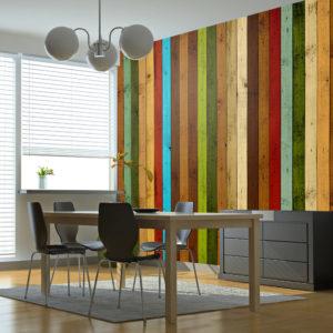 Papier Peint Panoramique Wooden rainbow