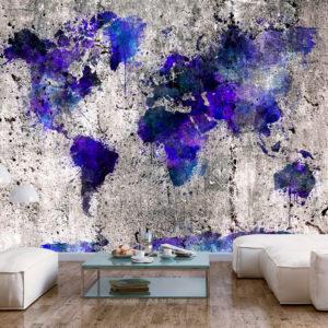 Papier Peint Panoramique World Map: Ink Blots