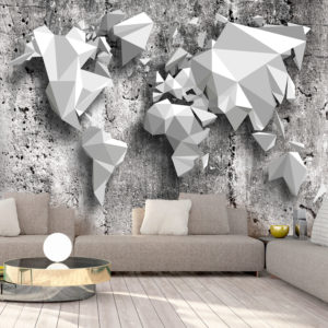 Papier Peint Panoramique World Map: Origami