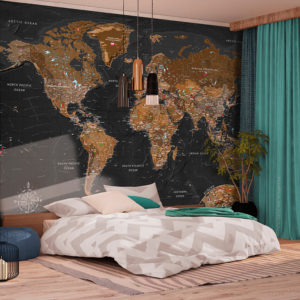 Papier Peint Panoramique World: Stylish Map