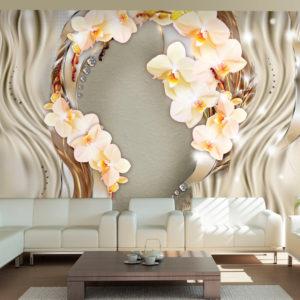 Papier Peint Panoramique Wreath of orchids